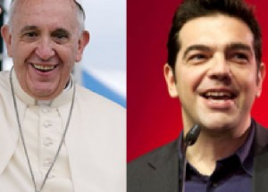 Tsipras con Papa Francesco