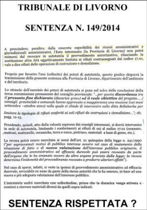 Limoncino sentenza 149 del 2014
