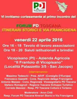 forum pd toscana francigena